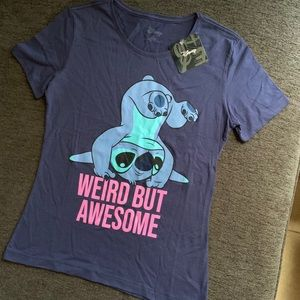 Stitch Weird But Awesome Tee